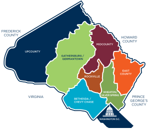 Map courtesy Visit Montgomery County